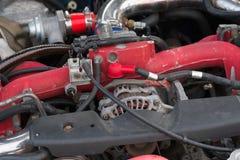 De automacro van de auto moderne motor Stock Afbeeldingen