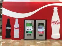 De Automaten van de cokeskola in een Wandelgalerij in Chandler Arizona worden gevestigd dat royalty-vrije stock foto's