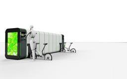 De automatische elektrische fietsen van de fietshuur Stock Afbeeldingen