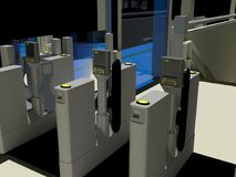 De automatische Poorten van het Kaartje vector illustratie