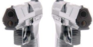 De automatische samenvatting van Pistolen Royalty-vrije Stock Afbeeldingen