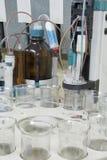 De automatisering van het laboratorium stock afbeelding
