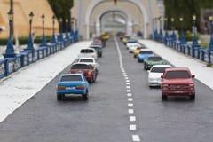 De automodel van de klei Royalty-vrije Stock Foto