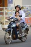 De Autopedden van Vietnam met passagiers Stock Afbeelding