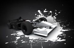De autoplons van Formule 1 stock illustratie