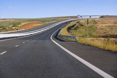 De autosnelweg van Roemenië Stock Foto's