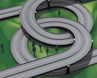 De autosnelwegverbinding van de weg Royalty-vrije Stock Foto