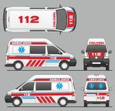 De Autotransportwagen Mini Bus Design van de noodsituatieziekenwagen Royalty-vrije Stock Afbeeldingen