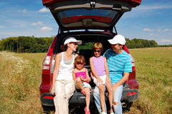 De autovakantie van de familie Stock Foto's