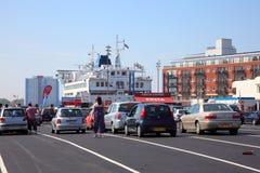 De autoveerboot van Portsmouth Stock Afbeelding