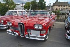 Am de autovergadering halden binnen (edsel 1958) Royalty-vrije Stock Fotografie