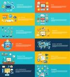 De autowasserette sociale media van de autodienst online winkel Stock Fotografie