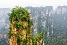 De Avatar Hallelujaberg en andere mooie rotsen, China stock foto's