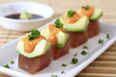 De Avocado van de tonijn Royalty-vrije Stock Foto's