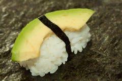 De Avocado van Nigirisushi op Sushirice Royalty-vrije Stock Afbeelding