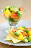 De avocadosalsa van de mango royalty-vrije stock fotografie