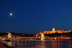 De avond van Boedapest Stock Afbeeldingen