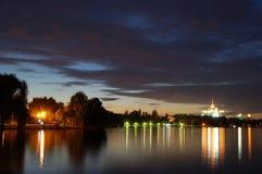 De avond van Boekarest Stock Foto's
