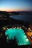 De avond van de pool stock foto