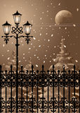 De Avond van de winter Stock Fotografie