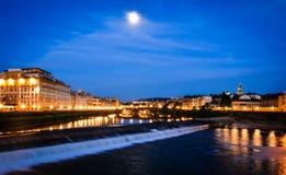 De avond van Florence stock foto