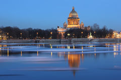 De avond van Heilige - Petersburg Royalty-vrije Stock Foto