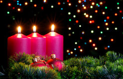 De avond van Kerstmis Stock Foto