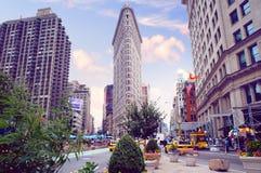 De avondcityscape van New York Stock Foto