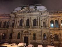 De avonden van heilige-Pitersburg stock afbeeldingen