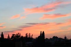 De avondhemel van multi gekleurde Oktober stock foto