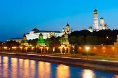 De avondlandschap van het Kremlin Stock Fotografie