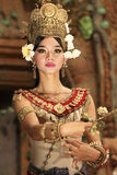 De Avondmanifestatie toont van Angkor-Tempel, Kambodja Royalty-vrije Stock Afbeelding