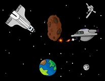 De Avonturen van de kosmische ruimte Stock Foto