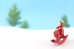 De avonturier van Kerstmis Stock Foto