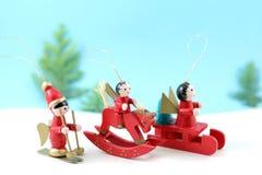De avonturieren van Kerstmis Stock Foto's