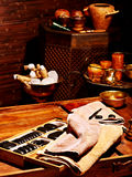 De Ayurvedic del balneario todavía del masaje vida Fotos de archivo libres de regalías