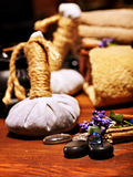 De Ayurvedic del balneario todavía del masaje vida Imágenes de archivo libres de regalías