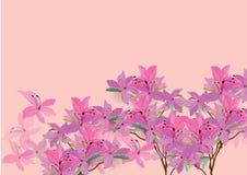 De azalea bloeit het hand getrokken geïsoleerde beeld van de waterverfborstel ontwerp voor voorwerp royalty-vrije illustratie