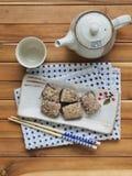 De Aziatische cake van de voedselrijst stock fotografie