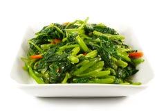 De Aziatische Chinese het Koken Stijl beweegt Gebraden gerecht Plantaardige Dis Royalty-vrije Stock Fotografie
