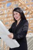 De Aziatische Contractant van de Vrouw Stock Fotografie