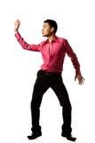 De Aziatische jonge mens in modieus stelt Stock Afbeelding