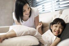De Aziatische Levensstijl van de Familie Royalty-vrije Stock Afbeelding