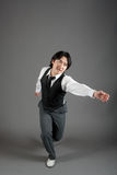 De Aziatische Mannelijke Danser van de Jazz Royalty-vrije Stock Foto