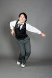 De Aziatische Mannelijke Danser van de Jazz Royalty-vrije Stock Foto's