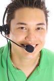 De Aziatische mannelijke klantendienst stock afbeelding