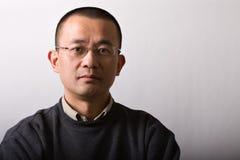 De Aziatische medio-volwassen mens van het portret Stock Foto's