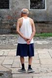 De Aziatische mens van Elederly Royalty-vrije Stock Foto's