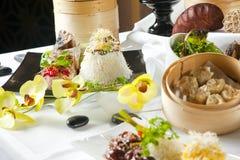 De Aziatische schotels van de Fusie Royalty-vrije Stock Afbeeldingen