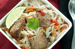 De Aziatische Soep van het Rundvlees Stock Afbeeldingen
